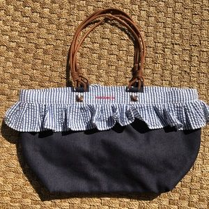90s RALPH LAUREN POLO Vintage Purse Handbag Denim